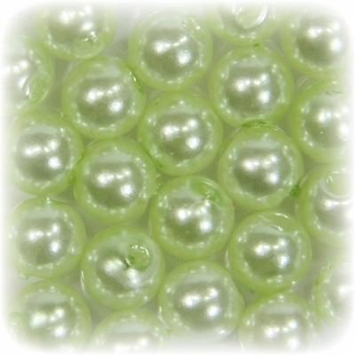 Perlen, rund, Ø6 mm, lindgrün, 50 Stück