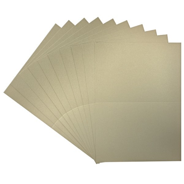 10er Doppelkarten-Set, DORÉ, gold, B6