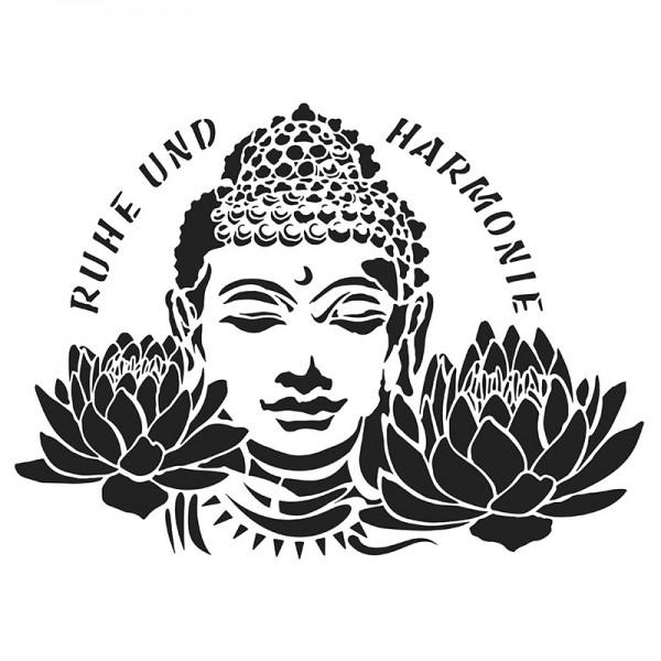 Laser-Kunststoff-Schablone, DIN A4, Buddha 2