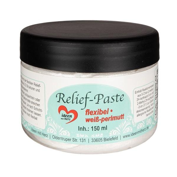 Relief-Paste, flexibel, weiß-perlmutt, 150ml