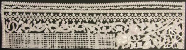 Wachsornament-Platte Schnörkel & Bordüren 32 x 8 cm, weiß mit Glimmer
