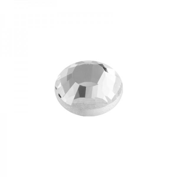 Hot-Fix Glas-Kristalle zum Aufbügeln, Ø3mm, 2000 Stk., transparent