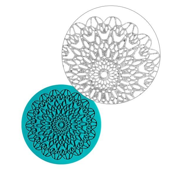 Silikon-Dekormatte, Design 13, Ø 9,9cm x 0,3cm