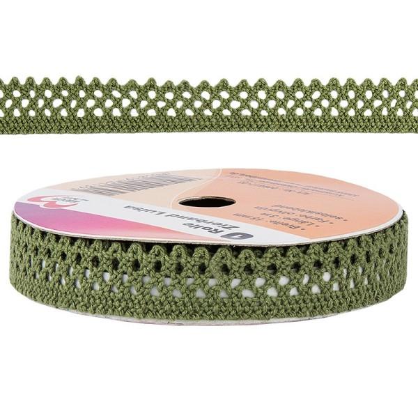 Zierband Luisa, 3m lang, 15mm breit, selbstklebend, olivgrün