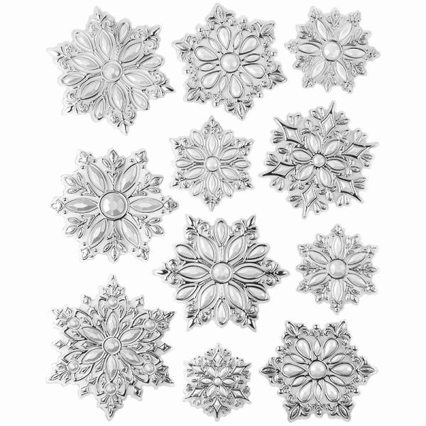 XL Relief-Sticker für die Wand, Eiskristall 1, 35 cm x 27,5 cm