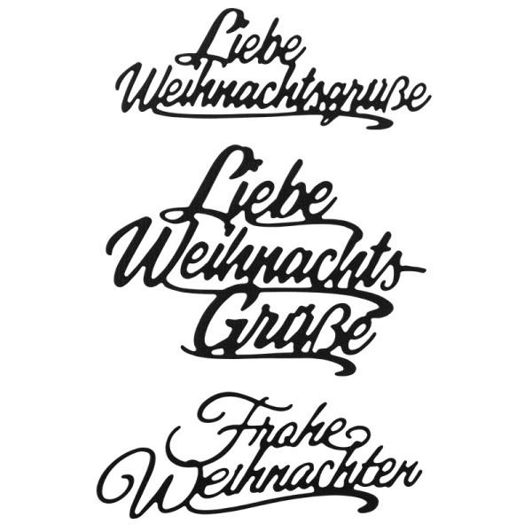 Stanzschablonen, Wünsche & Gratulationen 8, 3cm bis 8,1cm, 3 Stück