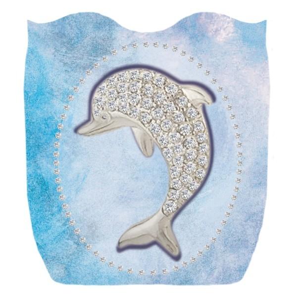 Deko-Bild, Delphin, 18 x 16,5 cm, 2er Set