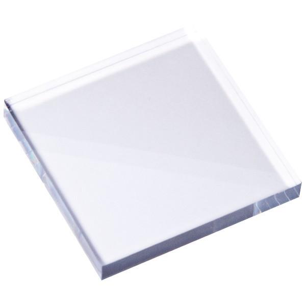 Stempel Block, 10 x 10 x 0,5 cm, transparent
