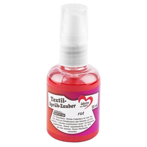 Textil-Sprüh-Zauber/Textil-Sprühfarbe, 50 ml, rot