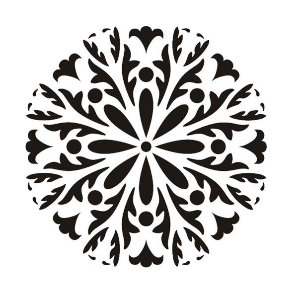 Laser-Kunststoff-Schablone, Mandala, Ø22cm, selbstkl., Design 6