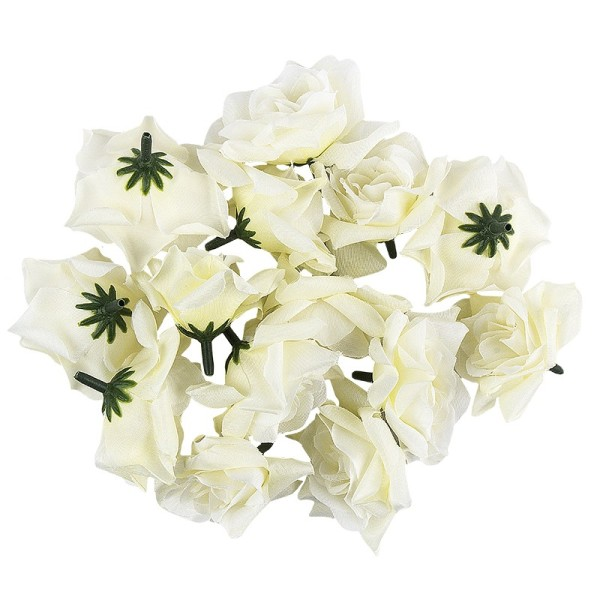 "Deko-Blüten ""Rose 3"", Ø 5cm, weiß, 14 Stück"
