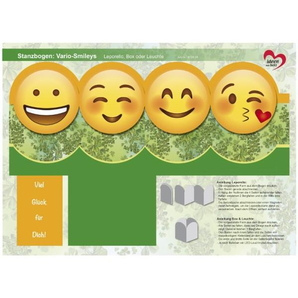 Stanzbogen, Vario-Smileys, DIN A4, Design 8