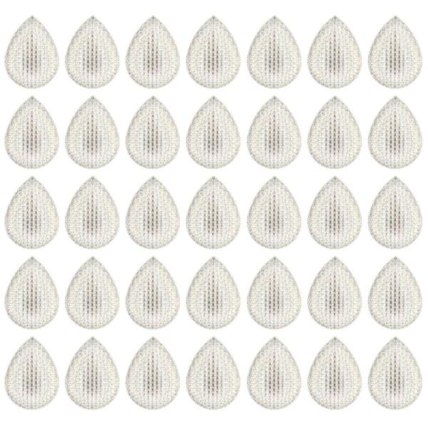 Kristallkunst-Schmucksteine, Tropfen 2, 3cm x 2cm, klar irisierend, 35 Stück