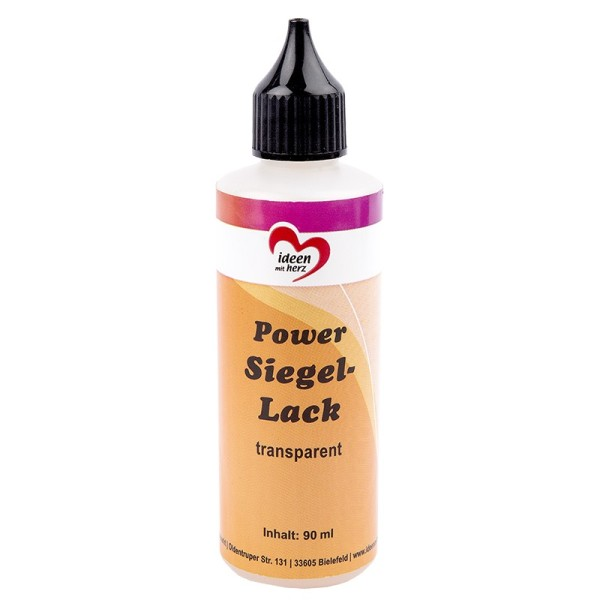 "Glanzlack ""Power-Siegel-Lack"", transparent, 90ml"