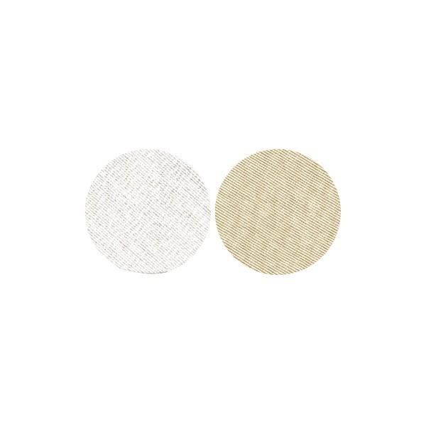 Stoffkreise für Knöpfe mit 16 mm Ø, silber/gold, 50er Set