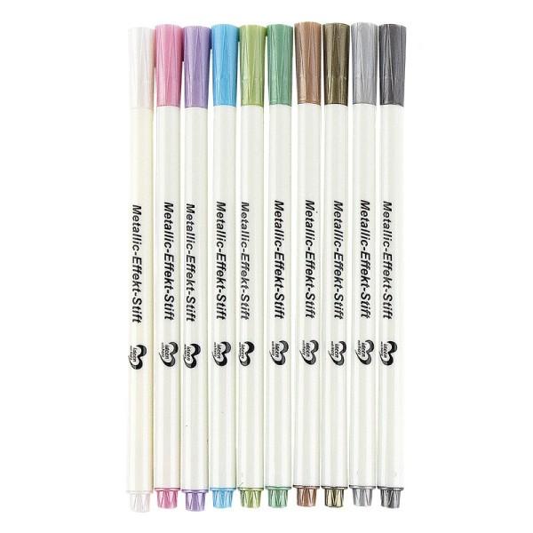 Metallic-Effekt-Stifte, verschiedene Farben, 10 Stück