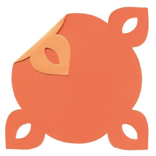 DuoColor Stanz-Faltpapiere, 10 x 10 cm, orange, 4 Ecken, 100 Blatt