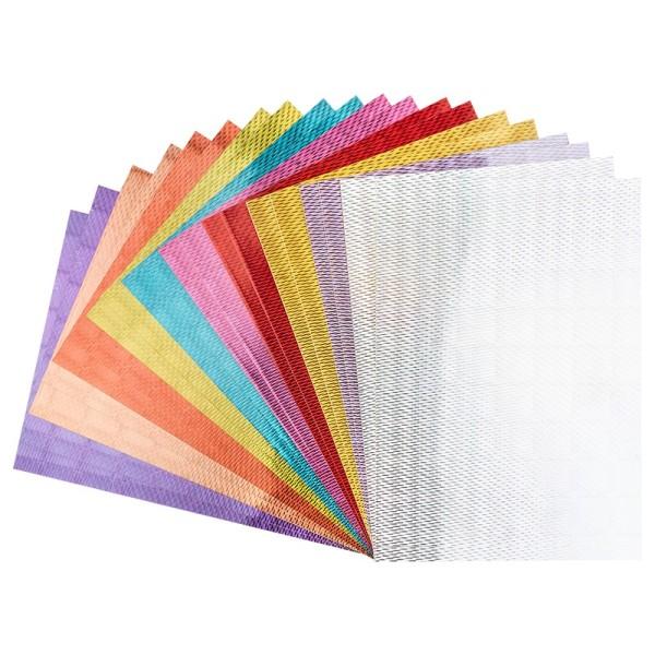 Effekt-Karton, Laserpoints, DIN A4, 200 g/m², 10 Farben, selbstklebend, 20 Stück