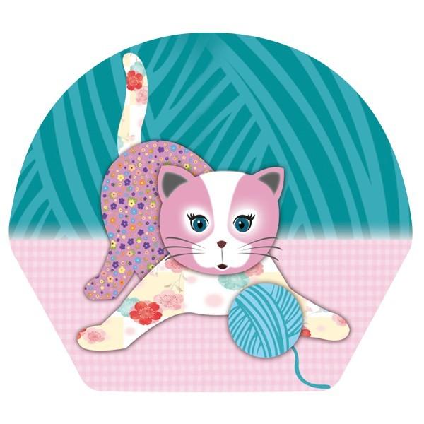 Deko-Bild, Verspielte Katze, 18,5 x 20,5 cm, 2er Set