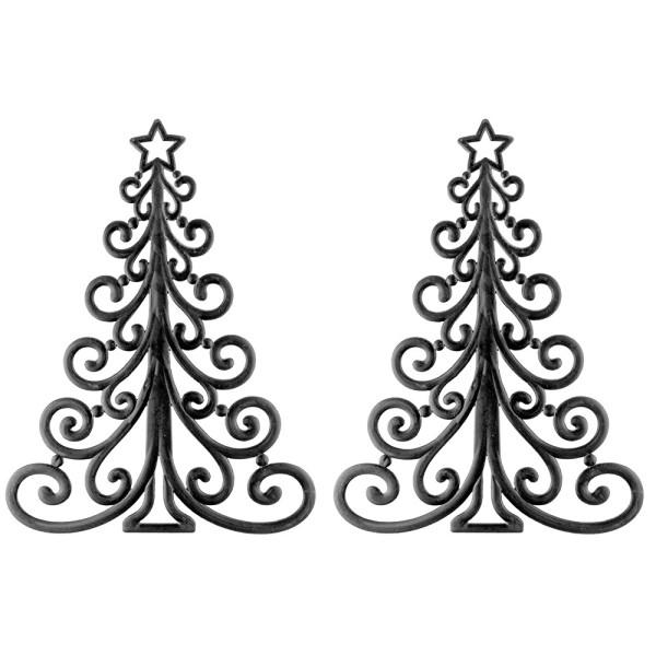 Deko-Tannenbäume, Rohlinge, 27,5cm x 21cm x 0,3cm, 2 Stück