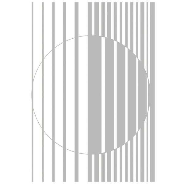 Metallic-Bügeltransfer, Hintergrund, Streifen & Kreis, 25cm x 34cm, silber glänzend
