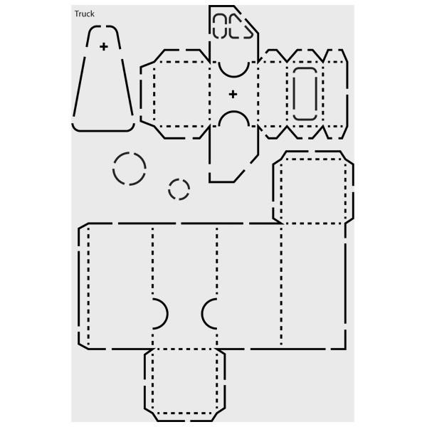 "Design-Schablone Nr. 6 ""Truck"", DIN A4"
