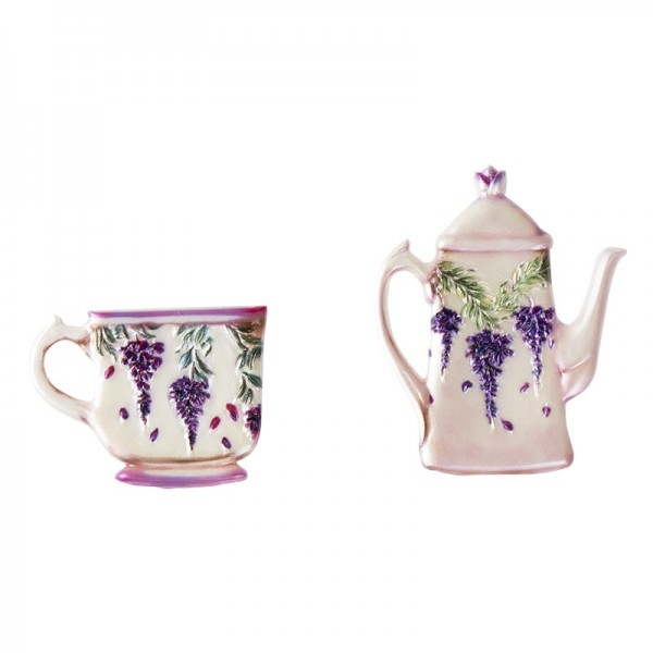 Wachsornamente, Tasse & Kanne 5, Kaffee/Tee, 2 Stück