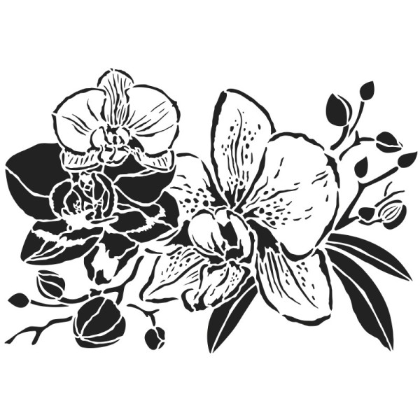 Laser-Kunststoff-Schablone, DIN A4, Orchideen 2