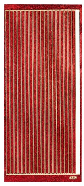 Microglitter-Sticker, Linien, 5mm, rot