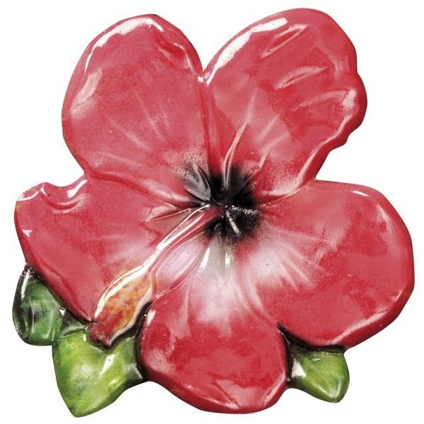 Wachsornament Blütenpracht 4, farbig, geprägt, 7cm