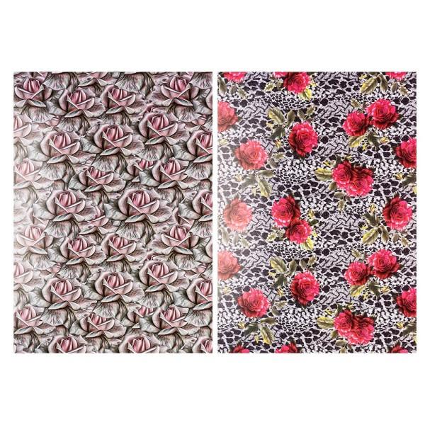 Motiv-Glossy-Karton, Elegante Rosen, 2 verschiedene Designs, DIN A4, 20 Bogen