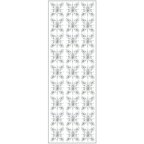 Kristallkunst, Ornament 10, 10cm x 30cm, selbstklebend, klar irisierend