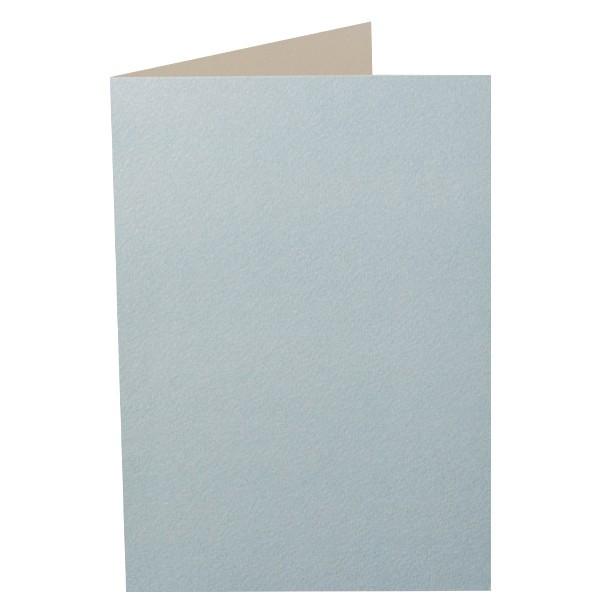 Doré-Doppelgrußkarte, hellblau, B6