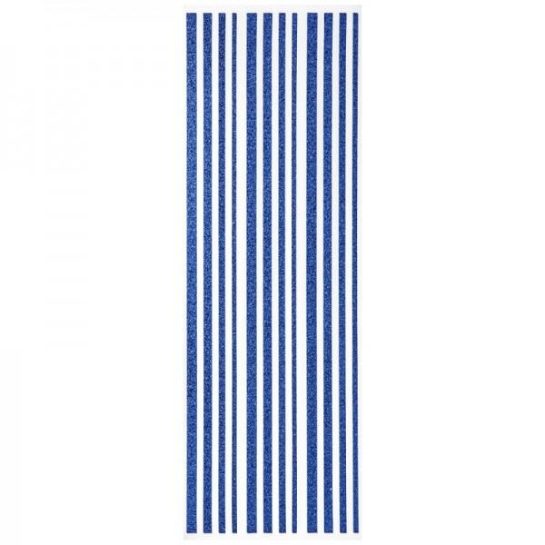 Glitzer-Bordüren, Sticker-Linien, 30 cm lang, 3-6 mm, marine