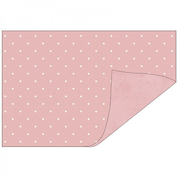 Faltpapiere, Duo-Design 32, 10 x 15cm, Punkte/rosa, 50 Stück