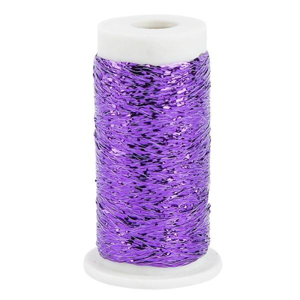 Metallic-Garn/Stickgarn auf Rolle, 30m, violett
