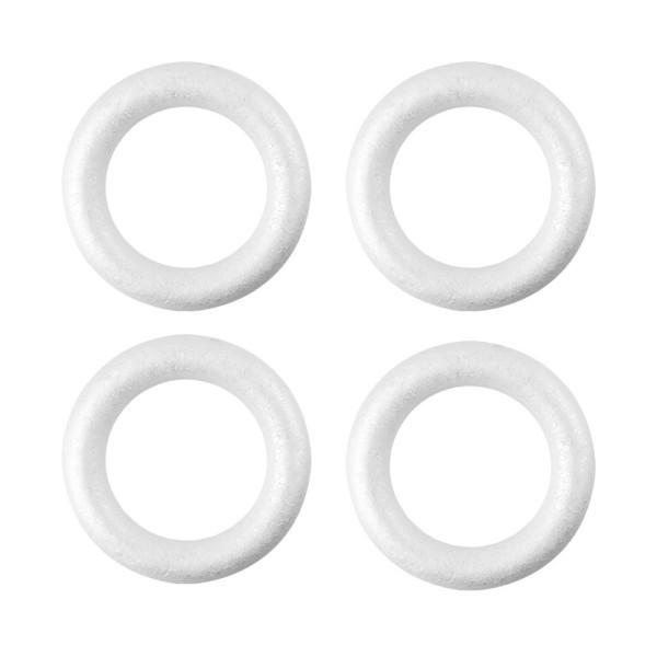 Styropor-Ringe, Ø 12cm, 4 Stück