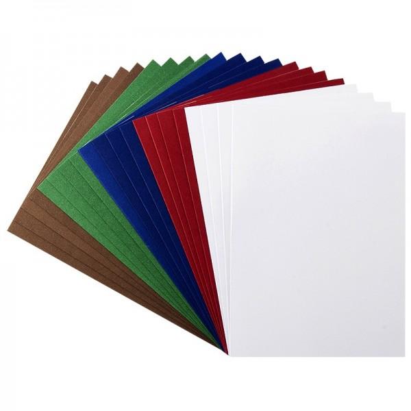 Karteneinleger, 15,5cm x 11cm,, kräftige Farbtöne, 20 Stück