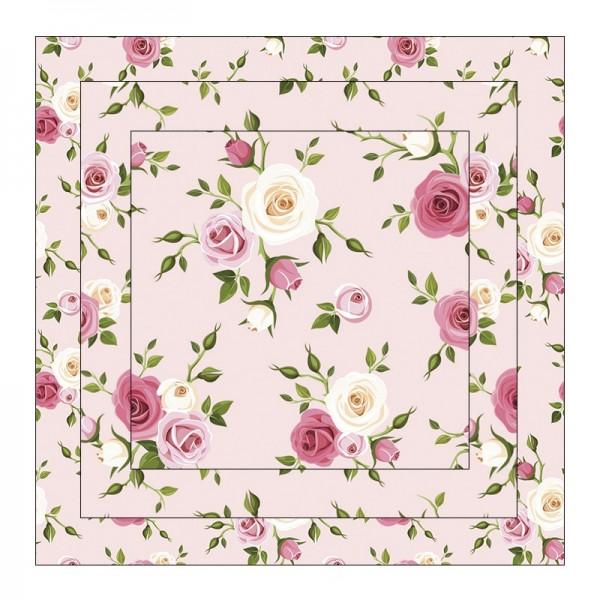 Faltpapiere, Duo-Design 1, 110 g/m², Rosen/rosa, 150 Stück