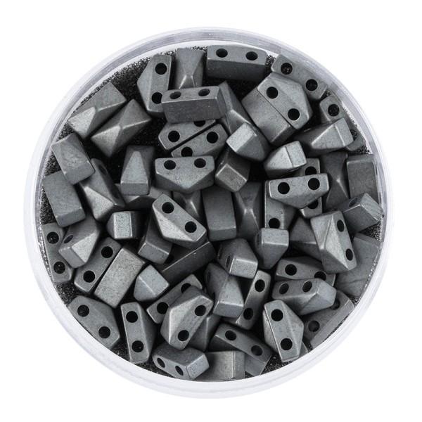 Hämatit-Perlen, Pyramide, 4mm x 6mm x 3mm, matt-anthrazit, 60 Stück