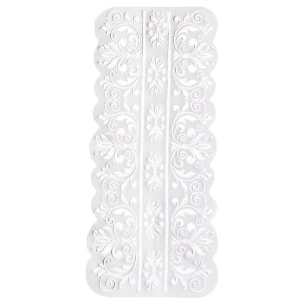 Noblesse Bordüren 1, Transparentpapier, 16,5cm x 8cm, weiß, 20 Stück