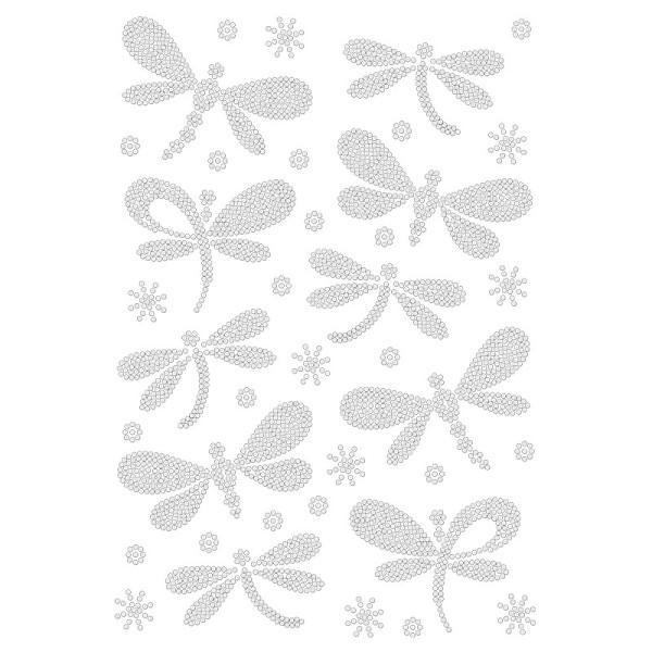 Bügelstrass-Design, DIN A4, klar, Libellen