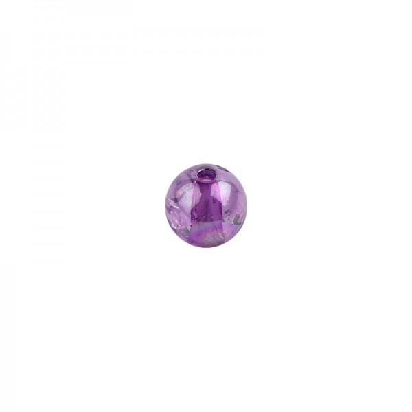 Perlen, transparent, irisierend, Ø8mm, 100 Stück, violett