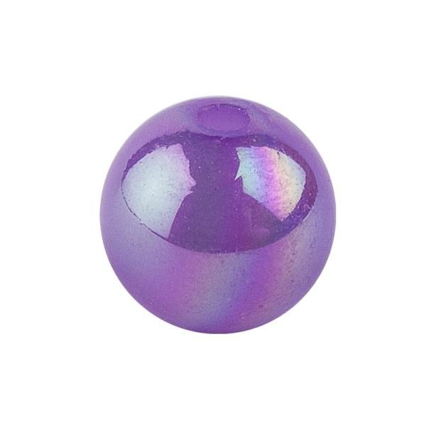 Perlen, irisierend, Ø 8mm, violett-irisierend, 100 Stk.