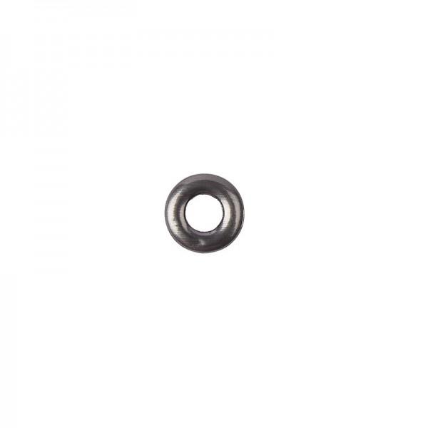 Hot-Fix Ring-Nieten zum Aufbügeln, Ø 10mm, silbergrau, 100 Stück
