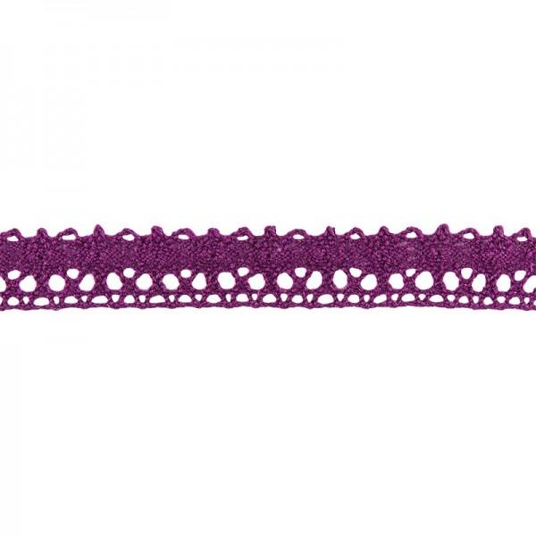 Häkelspitze Design 5, 1,7cm breit, 2m lang, aubergine