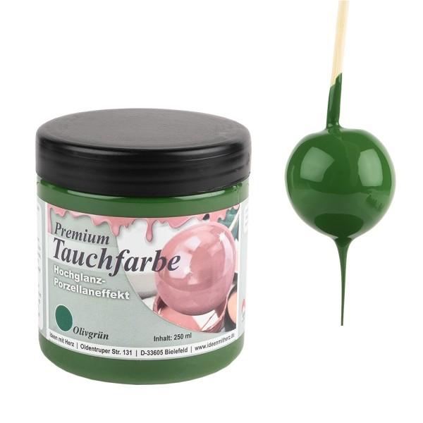 Premium-Tauchfarbe, Olivgrün, 250ml