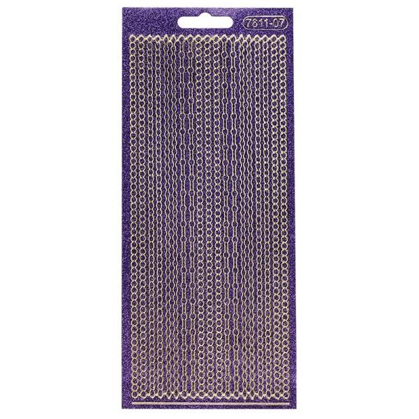 Microglitter-Sticker, Perlen-Bordüren, 3mm, violett