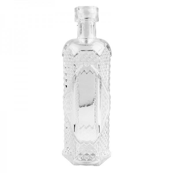 Zier-Glasflasche Fay, Ø 4cm, 12cm hoch, transparent, klar