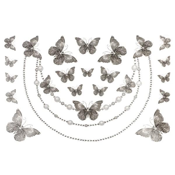 Color Bügeltransfers, Glitzer, DIN A4, Schmetterlinge